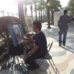 """Un trabajo diferente """"arte callejero"""" a manos del pintor Celso"""
