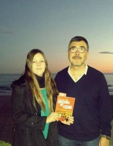Con Miguel Ánegl Cerdán en la playa Eurosolde Benicàssim
