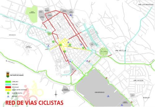 Red de vías ciclistas San Vicente del Raspeig
