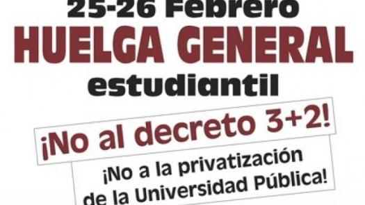 Huelga del 26 de Febrero, en contra del 3 más 2