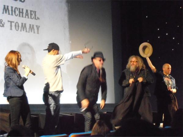 """David, Tommy, """"Boonie"""" y Michael Ornstein a su llegada al Grand Rex"""