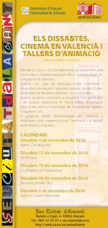 Cinema en valencià i taller d'animació