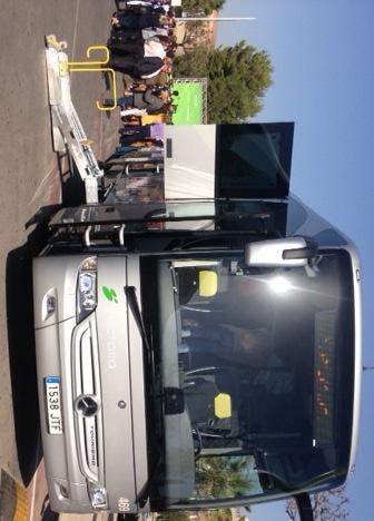 Autobus de mostra a la presentació de la flota