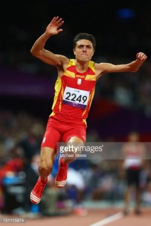 Antonio Andújar participando en los Juegos Olímpicos de Londres 2012
