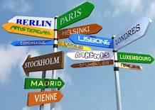 Los estudiantes viajan a través de las universidades