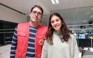 Foto amb Javier Gandia després de l'entrevista
